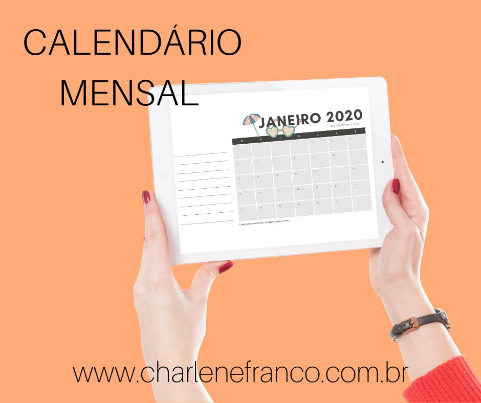 Calendario 2020 Para Imprimir Charlene Franco